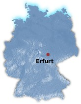 Erfurt Germany map