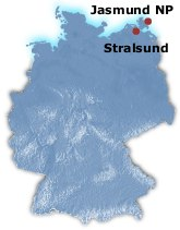 Jasmund National Park in Germany Map