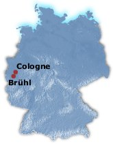Br�hl in Germany Map