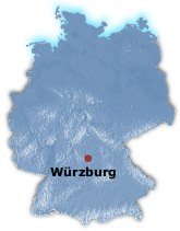 Wurzburg Germany Map