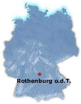 Rothenburg ob der Tauber in Map